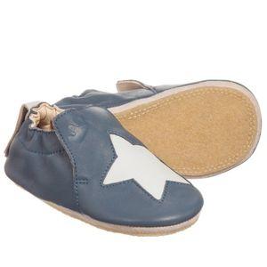 Easy Peasy(EZPZ) Leather Star Anti Slip Shoes